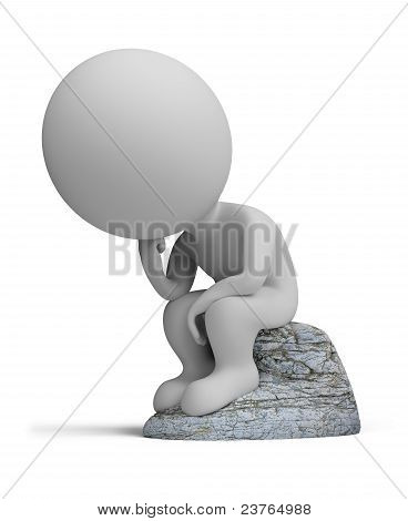 3D Small People - Thinker