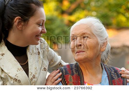 The Grandmother With The Grand Daughter