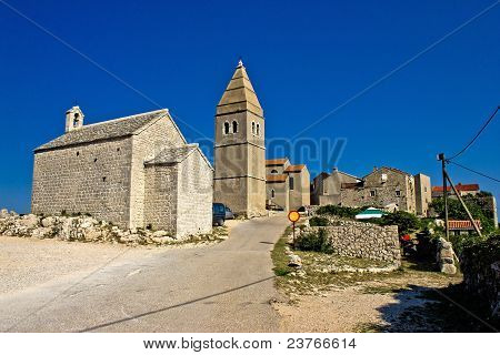 Mediterranean Town Of Lubenice, Island Of Cres