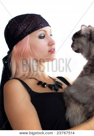 Witch With Cat