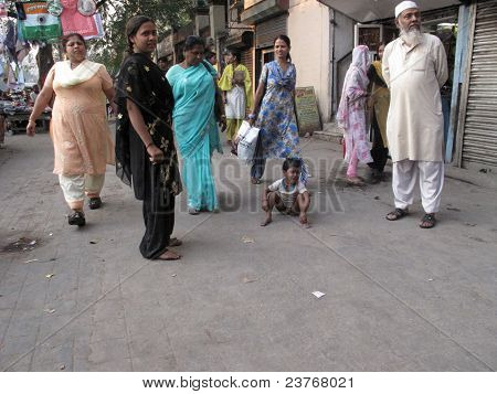 Streets Of Kolkata. People Live And The Streets