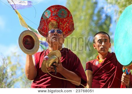 Buddhist Monks On Ceremony