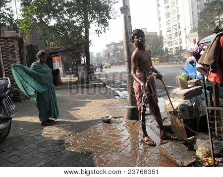 People Live And Work On The Streets