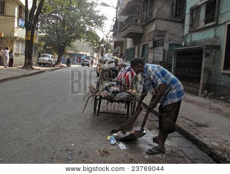 Streets Of Kolkata, Street Cleaner