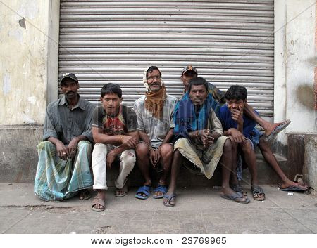Streets Of Kolkata. People Live And Work