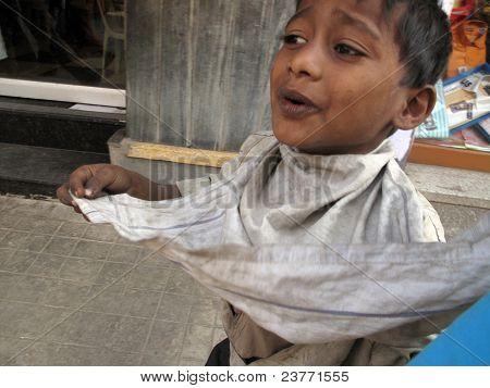 Streets of Kolkata. Beggar