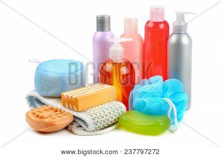 Shampoo Soap And Bath Sponge