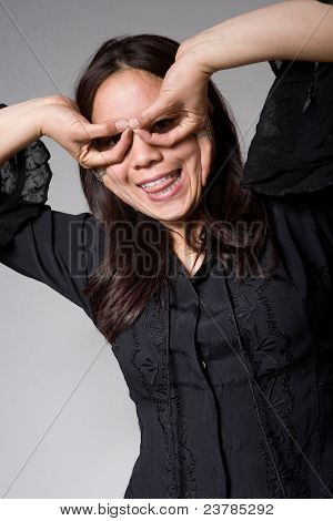 Silly Asian woman