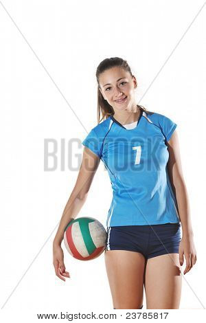 deporte juego de voleibol con fondo de neautoful joven oslated onver blanco