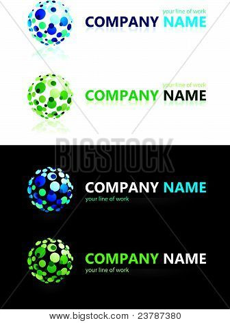 Company name. Design elements.