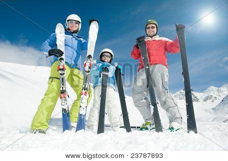 Winter, ski, sun and fun - happy ski team