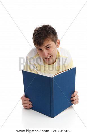 Happy Boy Reading Learning