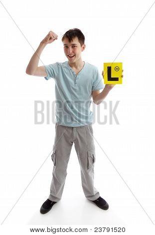 Teen Boy puño de éxito
