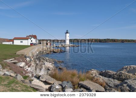 A Coast Of New Hampshire; Lighthouse