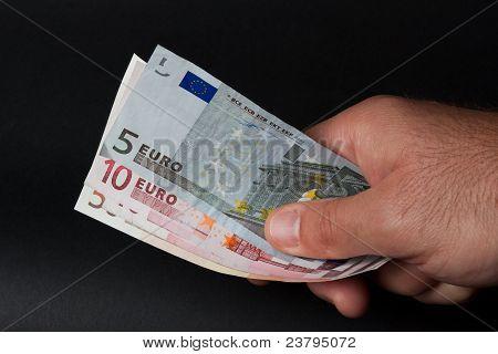 Euro na mão