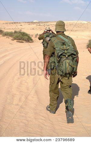 Israeli Army Military Exercise