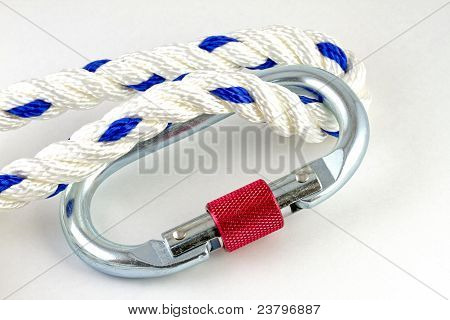 Karabiner with rope