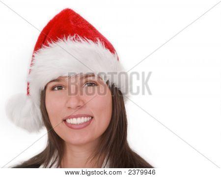 Girl In Santa'S Hat
