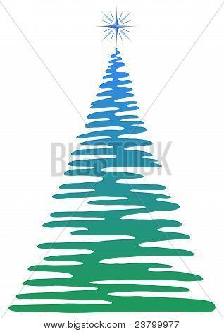 Christmas fir-tree, pictogram