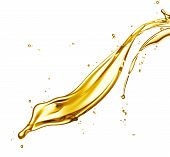 pic of drop oil  - engine oil splashing isolated on white background - JPG