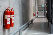 Fire Extinguishers In The Warehouse. Fire Safety poster