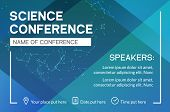 Science Conference Business Design Template. Science Brochure Flyer Marketing Advertising Meeting. poster