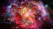 Nebula And Stars In Deep Space, Mysterious Universe. Elements Of This Image Furnished By Nasa poster