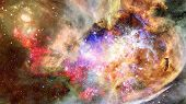 Nebula And Stars In Deep Space. Elements Of This Image Furnished By Nasa. poster