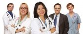 foto of doctors office  - Group of Doctors or Nurses Isolated on a White Background - JPG