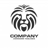 Lion Head Logo Vector, Lion King Head Sign Concept, Lions Head Logo, Lion Face Graphic Illustration, poster
