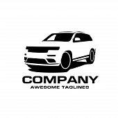Vector Car Silhouette Logo, Silhouette Of Suv Car Style Vector, Auto Car Logo Concept, Car Shop Logo poster