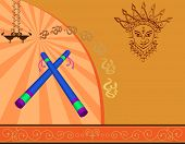 stock photo of dhol  - Garba Poster - JPG