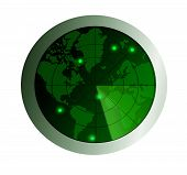 stock photo of sonar  - Image of sonar surveillance through out the world - JPG