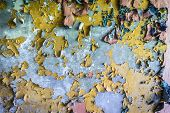 Постер, плакат: Cracking Paint On A Wall In Building Of Abandoned Military Town Called Chernobyl 2 In Chernobyl Excl