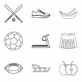 Recreate Icons Set. Outline Set Of 9 Recreate Vector Icons For Web Isolated On White Background poster