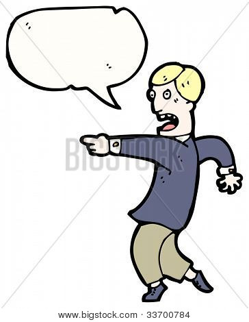 cartoon pointing businessman