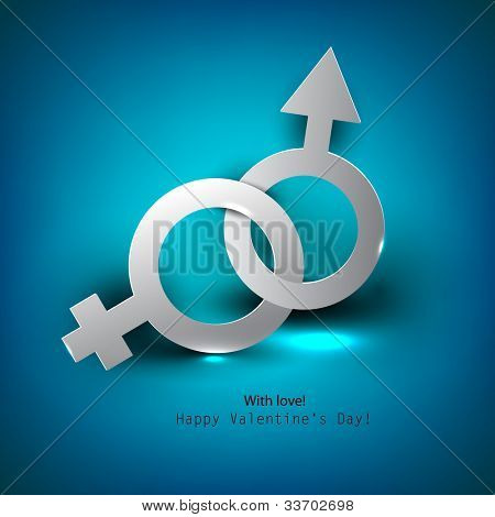 Abstract vector background with male female symbol