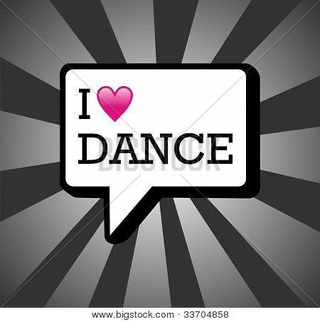 I Love Dance Background Illustration