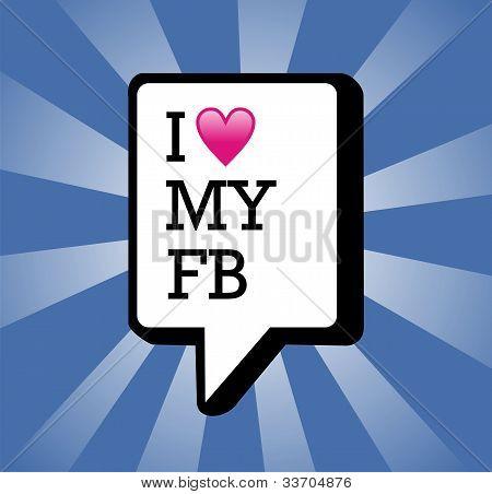 Ich liebe meine Facebook hintergrund illustration