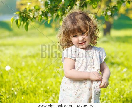 Portrait of a cute spring child