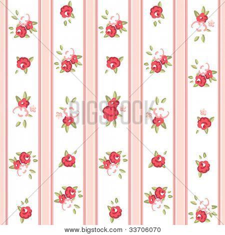 Vintage rose pattern. Seamless vector. Rose wallpaper