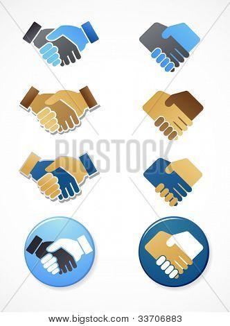 Sammlung von Handshake Symbole und Elemente