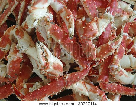 Fresh King Crab Legs On Ice