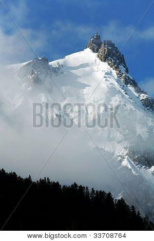 Aiguille du Midi seen from Chamonix, Haute Savoie, France