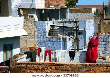 Street scene in Jodhpur, Rajasthan, India