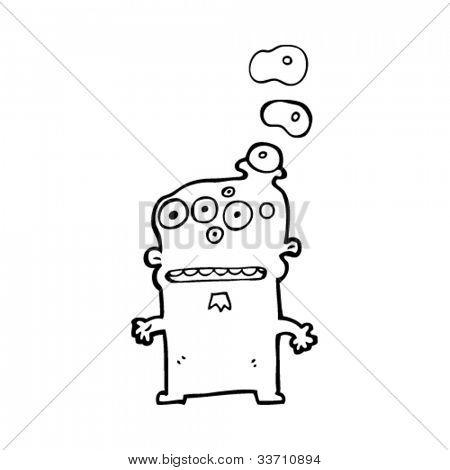 weird monster cartoon