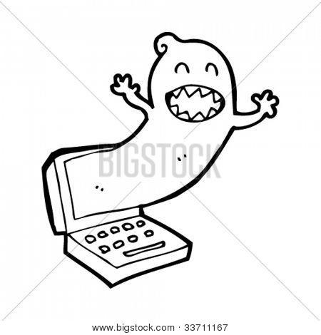 cartoon ghost in the machine