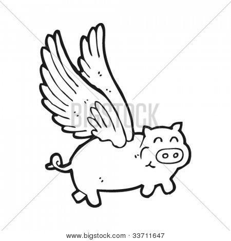 pigs may fly cartoon