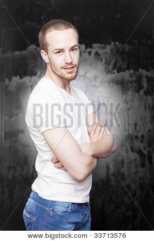 Man Crosing Arms And Posing