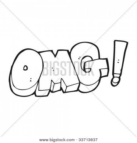 OMG sign cartoon